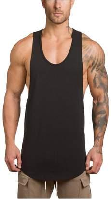 f4820612 Topgee Men's Tank Tops Topgee Men's V Neck Sleeveless Elastic Cotton Tank  Tops Sports ...
