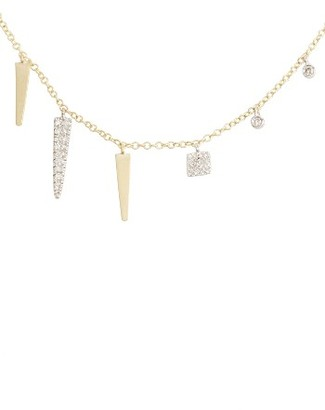Women's Meira T Diamond Spike Dangle Charm Necklace $595 thestylecure.com