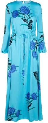 Diane von Furstenberg Floral Print Maxi Dress