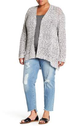 Susina Slub Knit Cardigan (Plus Size)