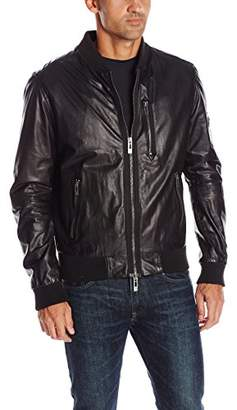 Rogue Men's Super Soft New Zealand Lamb Leather Zip Bomber Jacket