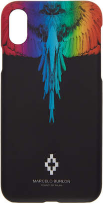 Marcelo Burlon County of Milan Black Rainbow Wing iPhone X Case