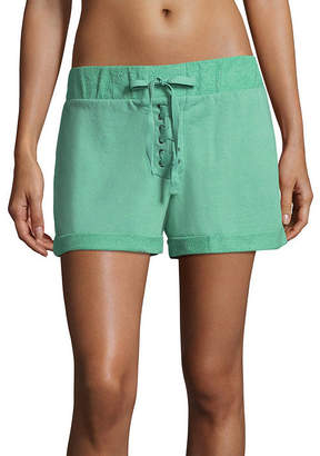 Flirtitude Lace Up Shorts - Juniors