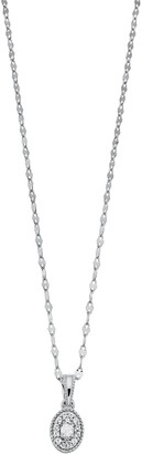 Lauren Conrad Sterling Silver Gemstone Pendant Necklace