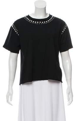 Rebecca Minkoff Embellished Short Sleeve Top