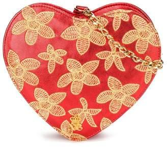 Xavem Kids floral embroidered heart bag
