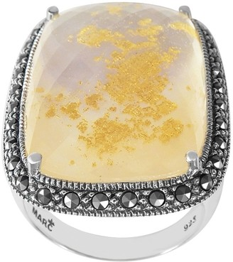 Mother of Pearl Suspicion Sterling Mother-of-Pearl Doublet & Marcasite Ring