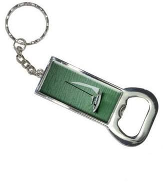 Generic Sail Sailing Boat Green Ocean Keychain Bottle Bottlecap Opener