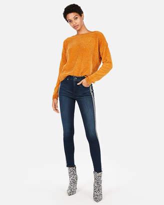 Express Velvet Chenille Bateau Neck Sweater
