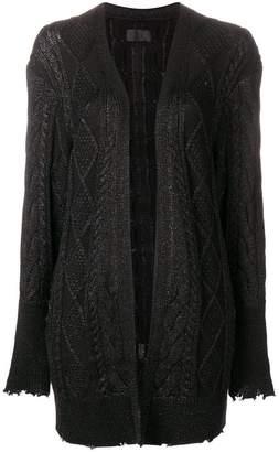 RtA metallic knit cardigan