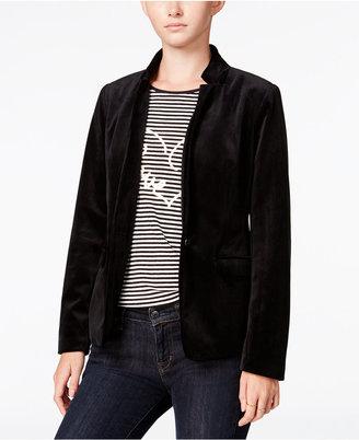 Maison Jules Velvet Blazer, Only at Macy's $99.50 thestylecure.com