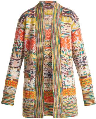 Missoni Long-line intarsia-knit cardigan