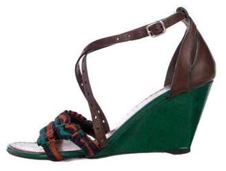 Proenza Schouler Leather Embellished Wedges