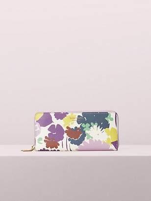 Kate Spade Sylvia Swing Flora Slim Continental Wallet, Parchment