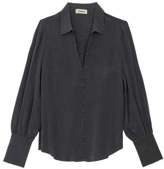 L'Agence Naomi Button Front Blouse