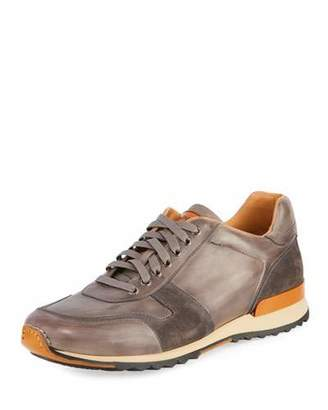 Magnanni Men's Retro Leather Running Sneakers