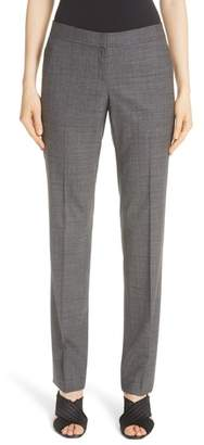 Lafayette 148 New York Manhattan Stretch Wool Slim Pants