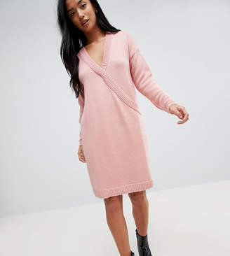 Asos Chunky Knitted Dress with Wrap Detail