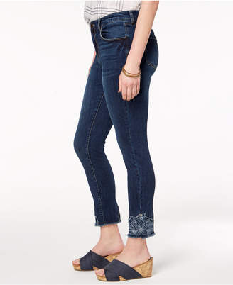 Style&Co. Style & Co Embroidered Ankle Skinny Jeans, Created for Macy's