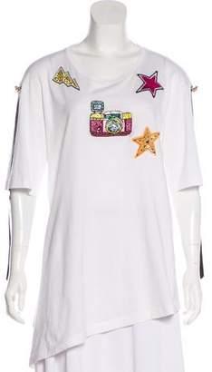 Dolce & Gabbana Embellished Short Sleeve T-Shirt