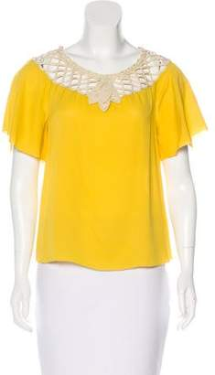 3.1 Phillip Lim Short Sleeve Silk Top