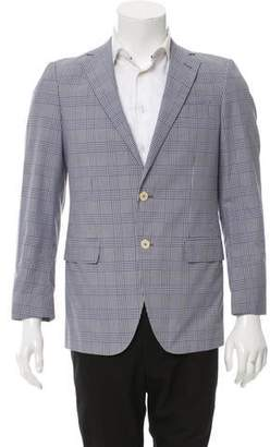 Façonnable Glen Plaid Two-Button Blazer w/ Tags