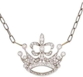 Jude Frances 18K Diamond Crown Pendant Necklace