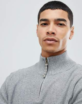 Jack and Jones Vintage Knitted Sweater With High Zip Neck