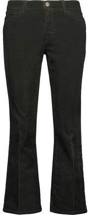 Selena Cropped Cotton-Blend Corduroy Mid-Rise Bootcut Jeans