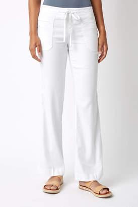 Level 99 Linen Button Front Wide Leg Pants
