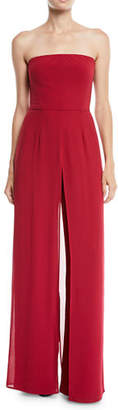 Halston Strapless Wide-Leg Jumpsuit