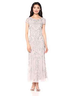 71e5bf53358 Pisarro Nights Women s Long Beaded Boat Neck Dress with Scallop Motif