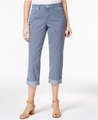 Style & Co Railroad Striped Capri Jeans, Created for Macy's $24.98 thestylecure.com