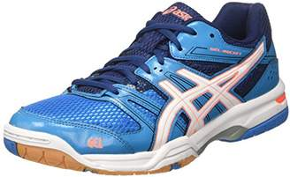 Asics Women's Gel-Rocket 7 Sneakers, (Blue Jewel/White/Flash Coral)