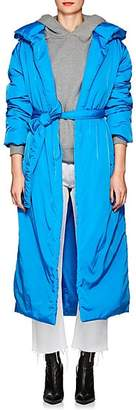 A PLAN APPLICATION Women's Insulated Long Hooded Coat - Blue
