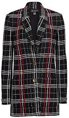 St. John Women's Bold Plaid Longline Jacket