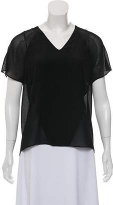 Alexander Wang Semi-Sheer V-Neck Top