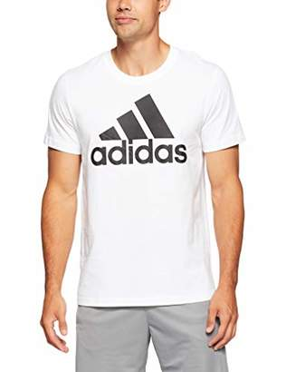 813abddd0 adidas Men's Ess Linear Tee Kniited Tank Top White/Black
