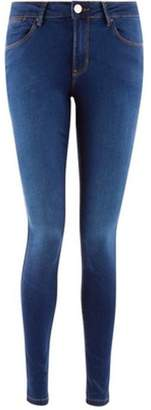 Dorothy Perkins Womens Rich Blue Mid Rise 'Bailey' Super Skinny Stretch Jeans