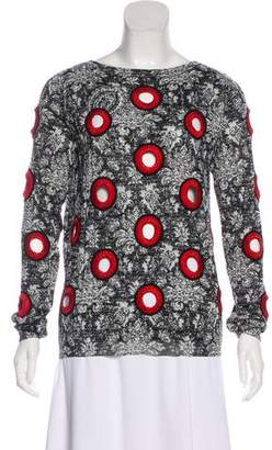 Louis Vuitton Embroidered Long Sleeve Top