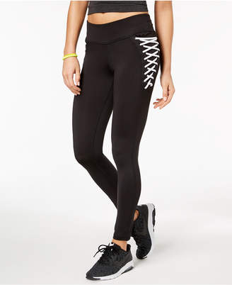 Material Girl Active Juniors' Lace-Up Leggings, Created for Macy's
