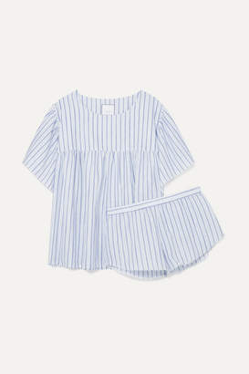 Three J NYC Anna Striped Cotton-voile Pajama Set - Blue
