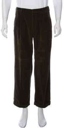 Ralph Lauren Purple Label Pleated Corduroy Pants