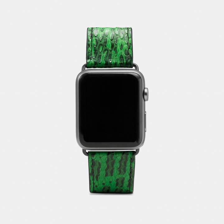 Coach  COACH Coach Apple Watch Snake Watch Strap
