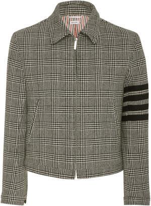 Thom Browne Striped Checked Wool-Crepe Jacket