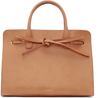 Mansur Gavriel Tan Leather Mini Sun Tote $695 thestylecure.com
