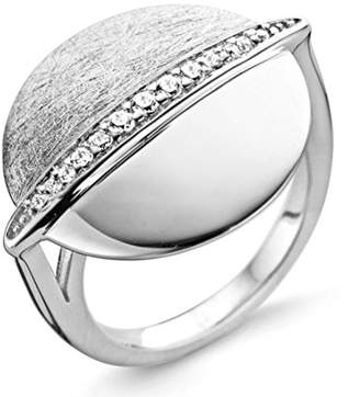 Ring Black Orphelia Women's Rhodium Plated Zirconia White 925 Sterling Silver Rhodium-Plated Round Cut ZR - 3815 silver