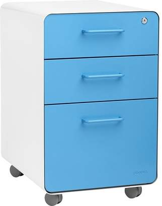 Poppin 3-Drawer Mobile Vertical File Cabinet