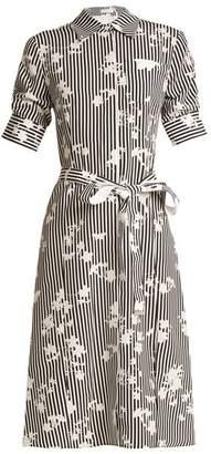 Altuzarra Kieran point-collar stripe-print dress