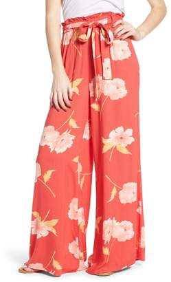 Billabong Happy Dance Floral Wide Leg Pants